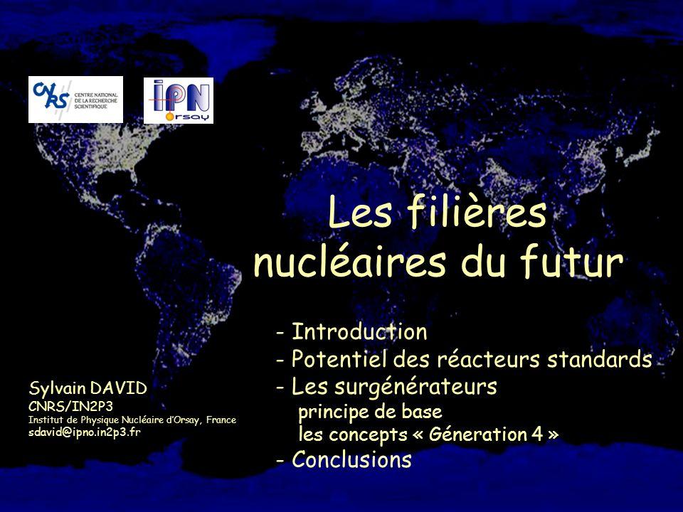 S.David, les filières nucléaires du futur, Atelier Prog. Energie CNRS – Gat « socioé économie », 20 Janvier 2005, Nogent sur Marne 1 Les filières nucl