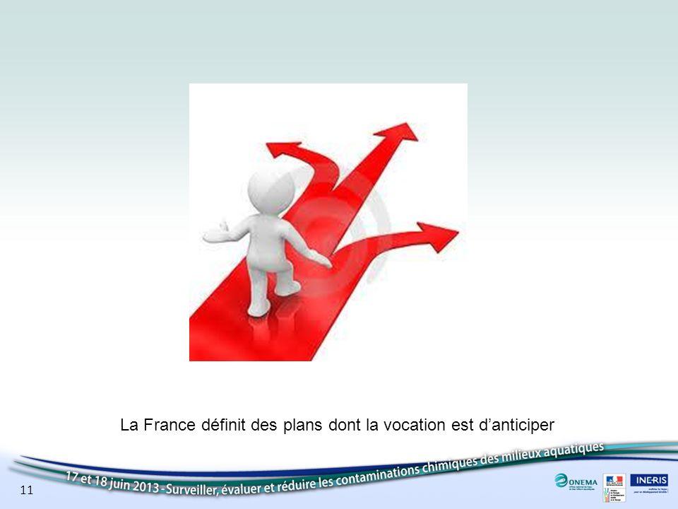 11 La France définit des plans dont la vocation est danticiper