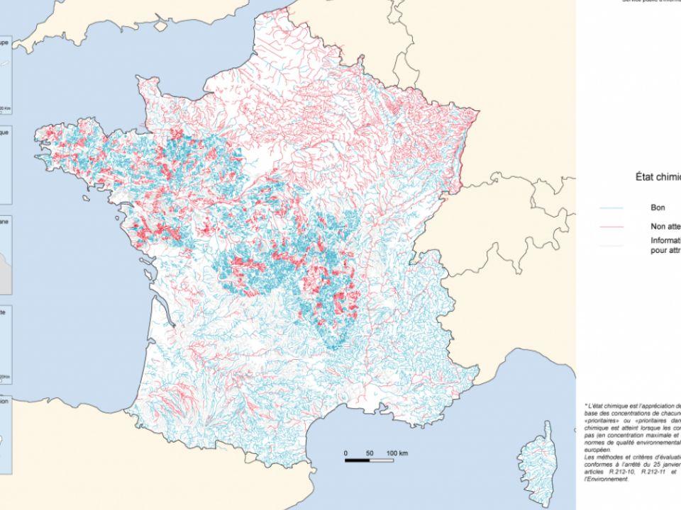 4 Bilan de présence des micropolluants dans les milieux aquatiques continentaux, période 2007-2009 (synthèse de tous les réseaux) De 2007 à 2009, ~ 950 micropolluants recherchés en métropole et dans les DOM, dont près de 60% sont des pesticides Pesticides Détectés dans 91% des points suivis dans les cours deau, 75% des points des plans deau 70% des points des eaux souterraines Les plus rencontrés En métropole : herbicides (ex.
