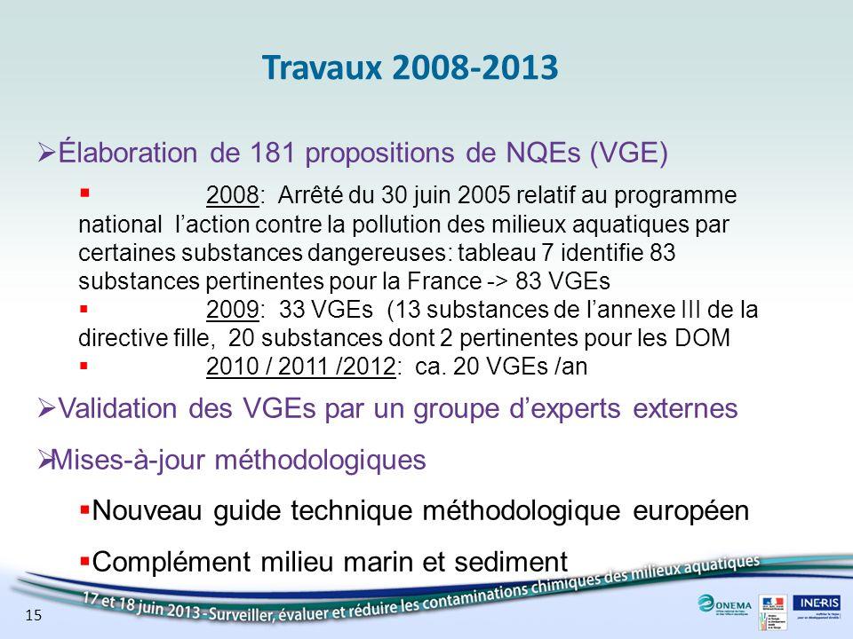 Spécificité du milieu marin Pour les substances organiques: La sensibilité des organismes deau douce et marin est équivalente à moins quune différence soit montrée.