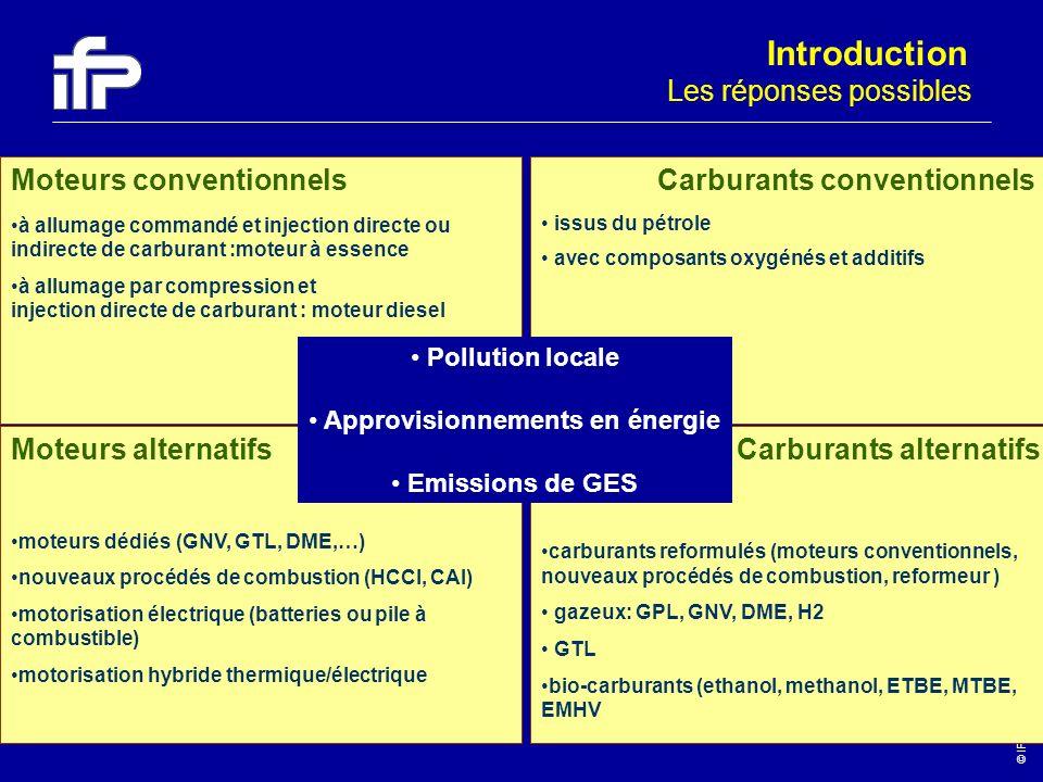 © IFP-2003 5 Les réponses possibles Moteurs conventionnels à allumage commandé et injection directe ou indirecte de carburant :moteur à essence à allu