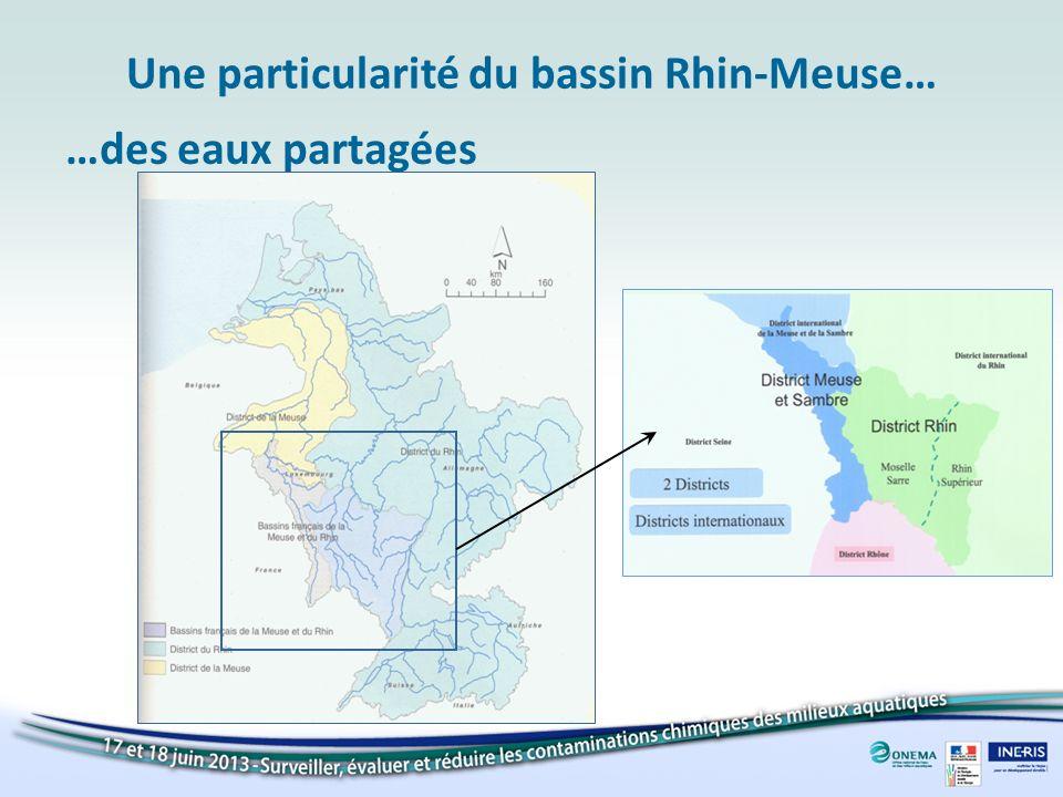 Une particularité du bassin Rhin-Meuse… …des eaux partagées