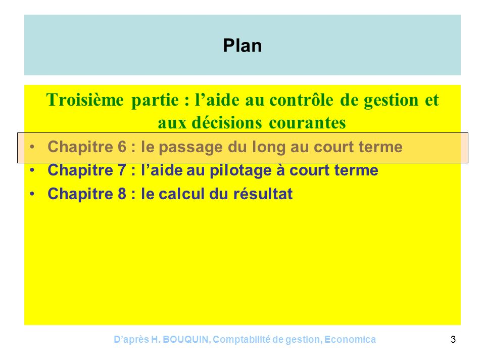Daprès H.BOUQUIN, Comptabilité de gestion, Economica14 Exemples P=100 v=60 F=10000 Point mort .