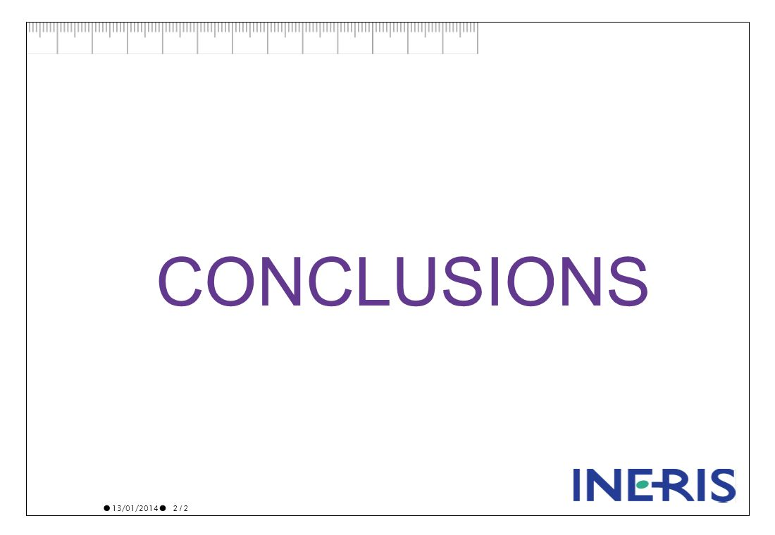 13/01/2014 2 / 2 CONCLUSIONS
