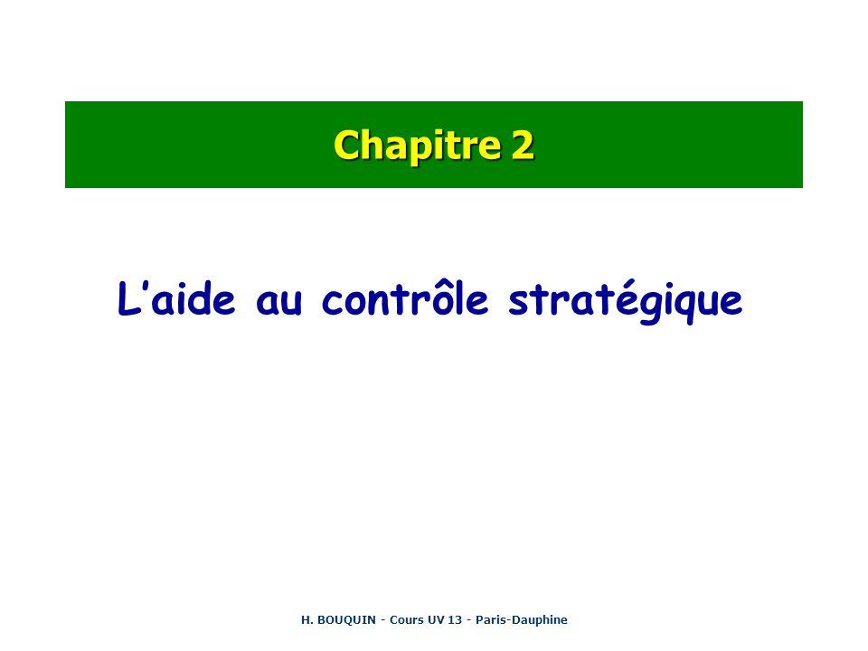 H. BOUQUIN - Cours UV 13 - Paris-Dauphine Chapitre 2 Laide au contrôle stratégique