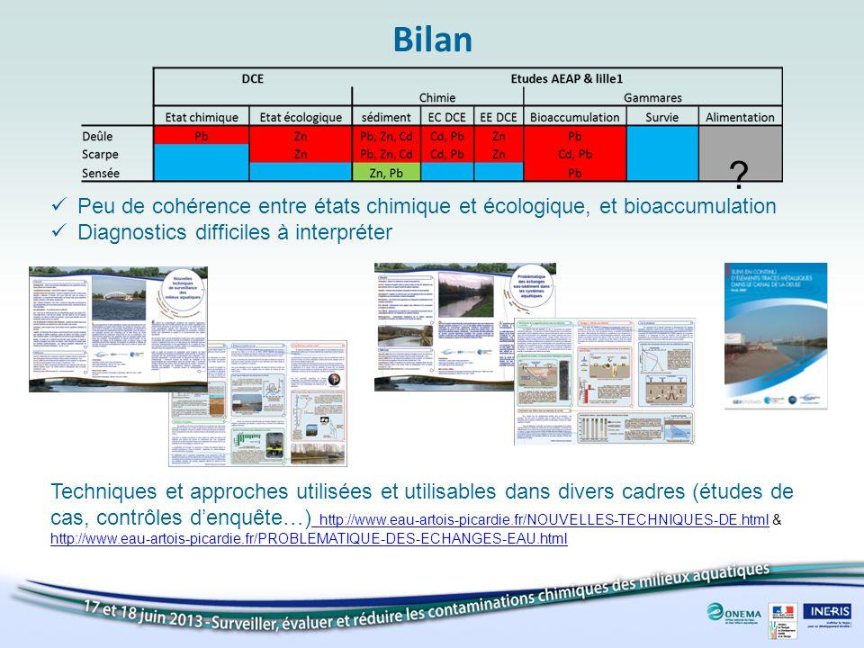Bilan Techniques et approches utilisées et utilisables dans divers cadres (études de cas, contrôles denquête…) http://www.eau-artois-picardie.fr/NOUVE