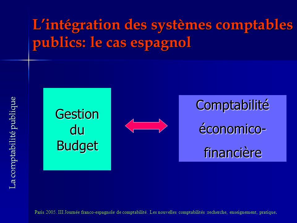 Lintégration des systèmes comptables publics: le cas espagnol Paris 2005.