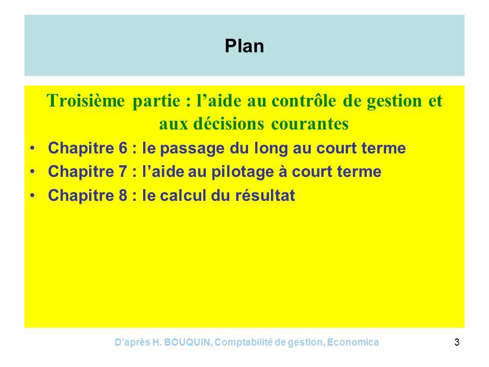 Daprès H.BOUQUIN, Comptabilité de gestion, Economica14 Chapitre 5 1.