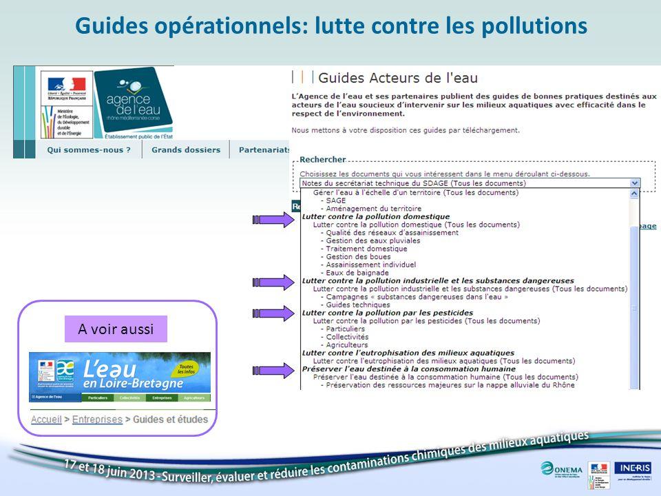 Guides opérationnels: lutte contre les pollutions A voir aussi