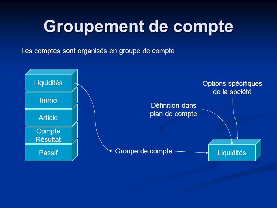 Passif Compte Résultat Article Immo Groupement de compte Les comptes sont organisés en groupe de compte Liquidités Définition dans plan de compte Grou