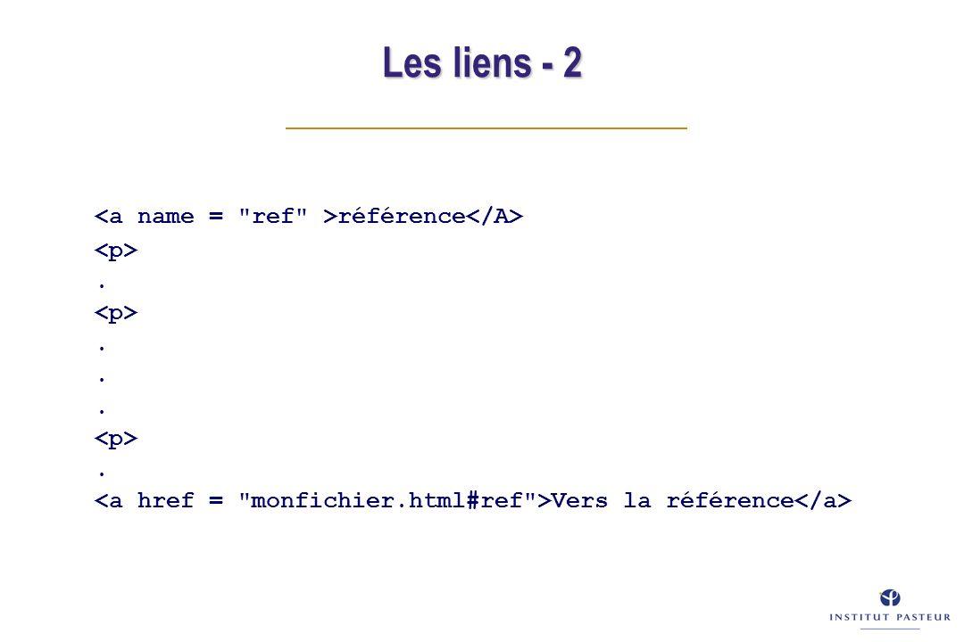 Les liens - 2 référence... Vers la référence