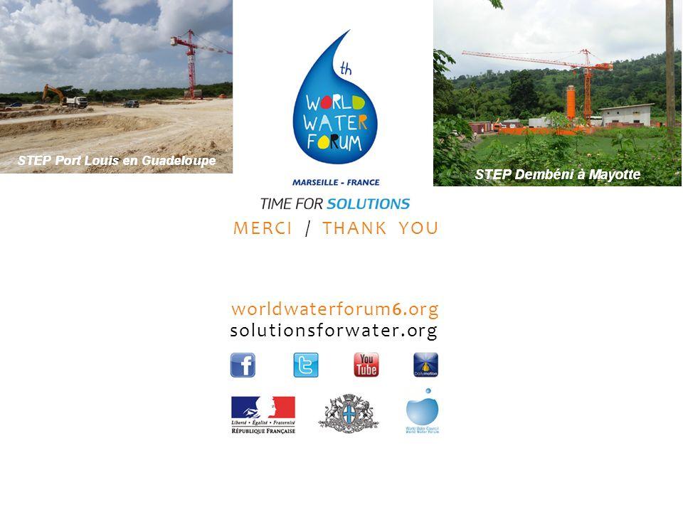 worldwaterforum6.org solutionsforwater.org MERCI / THANK YOU