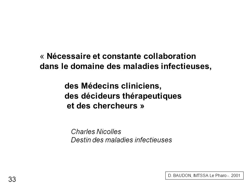 Charles Nicolles Destin des maladies infectieuses « Nécessaire et constante collaboration dans le domaine des maladies infectieuses, des Médecins clin
