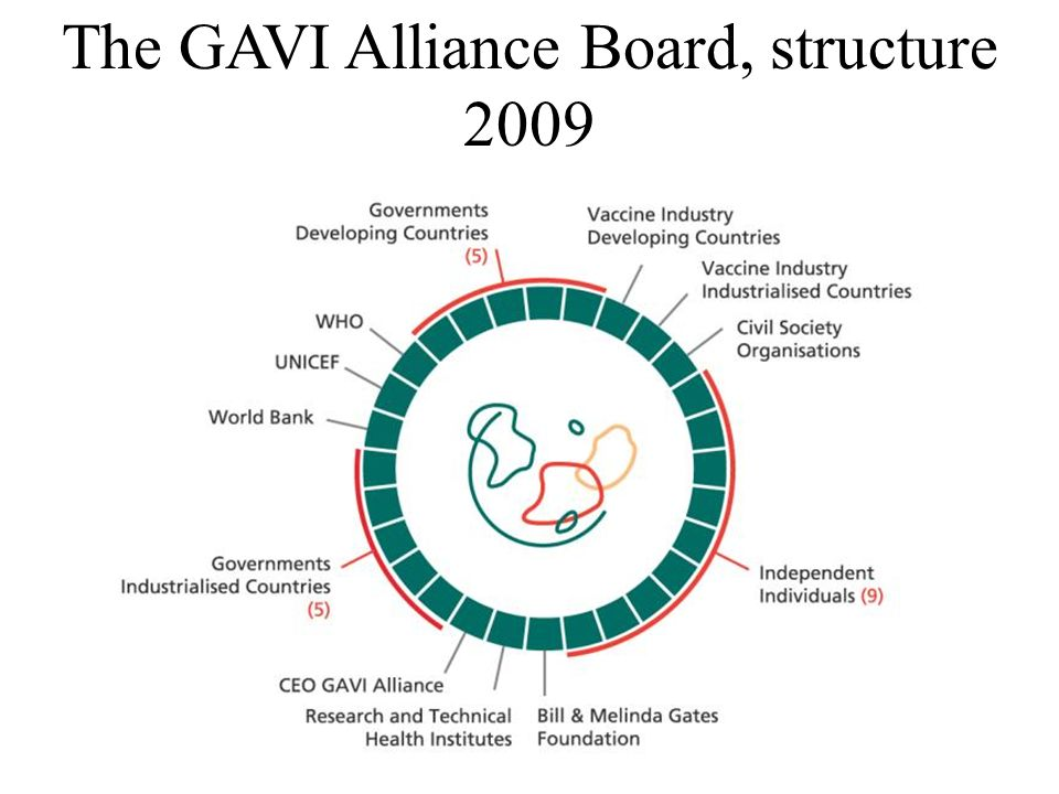 The GAVI Alliance Board, structure 2009