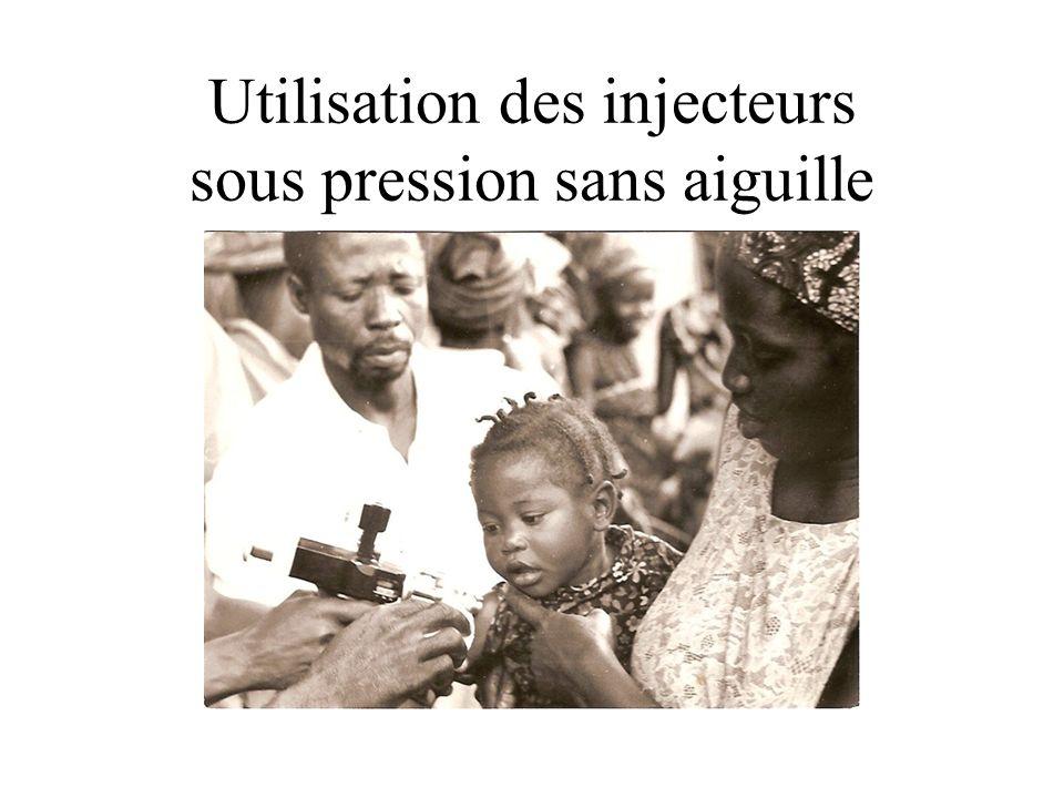 Utilisation des injecteurs sous pression sans aiguille