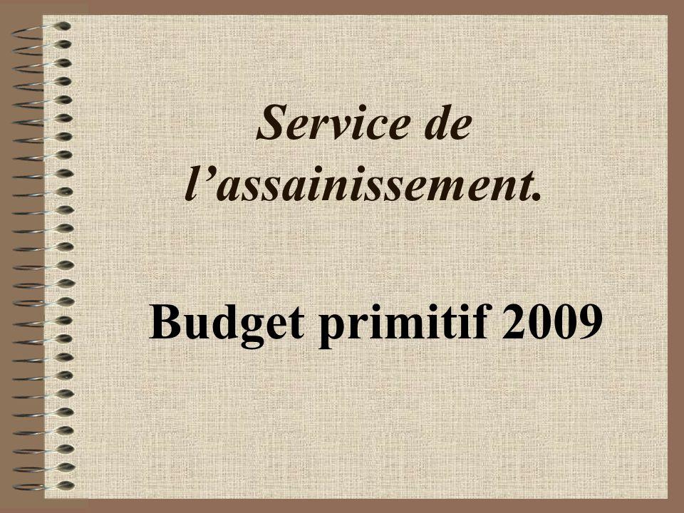 Service de lassainissement. Budget primitif 2009