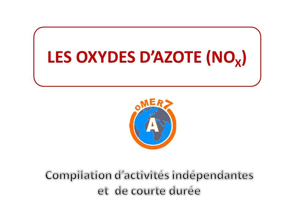 LES OXYDES DAZOTE (NO X )
