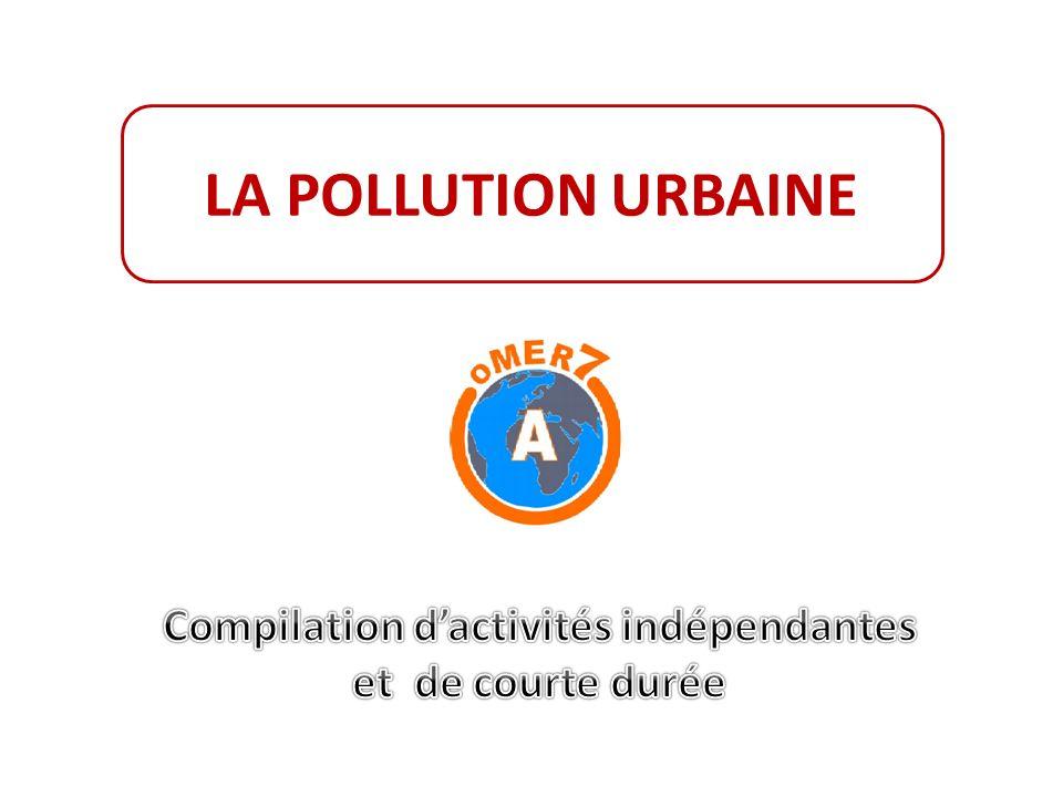 LA POLLUTION URBAINE