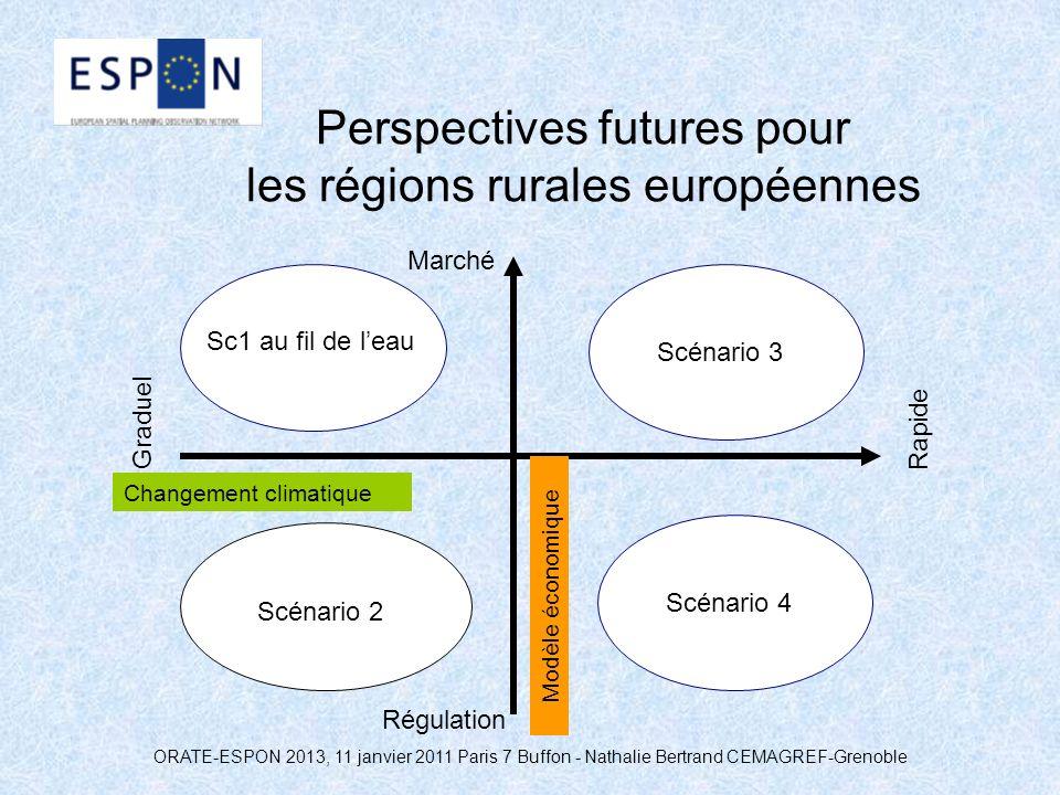 ORATE-ESPON 2013, 11 janvier 2011 Paris 7 Buffon - Nathalie Bertrand CEMAGREF-Grenoble Perspectives futures pour les régions rurales européennes Chang