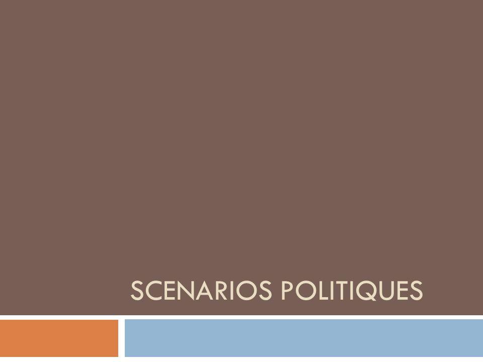 4 scénarios pour lEurope Axe Social/libéral Axe Croissance / Stagnation