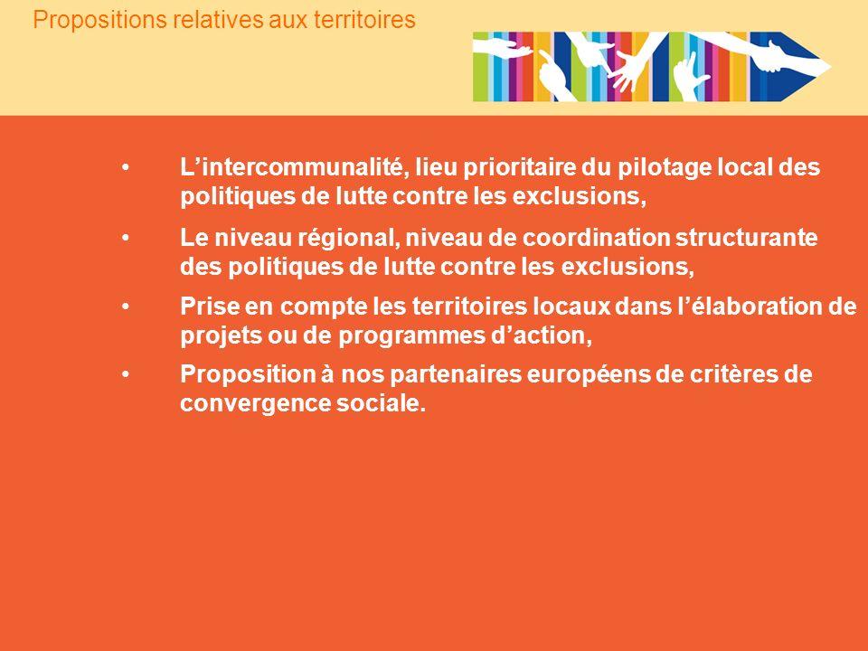 Lintercommunalité, lieu prioritaire du pilotage local des politiques de lutte contre les exclusions, Le niveau régional, niveau de coordination struct