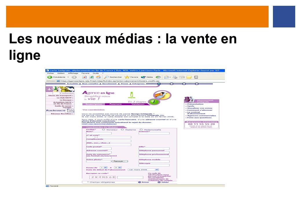 Les nouveaux médias : la vente en ligne