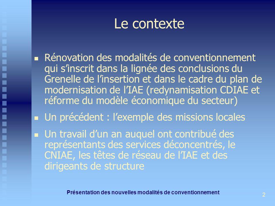 Présentation des nouvelles modalités de conventionnement 2 Le contexte Rénovation des modalités de conventionnement qui sinscrit dans la lignée des co