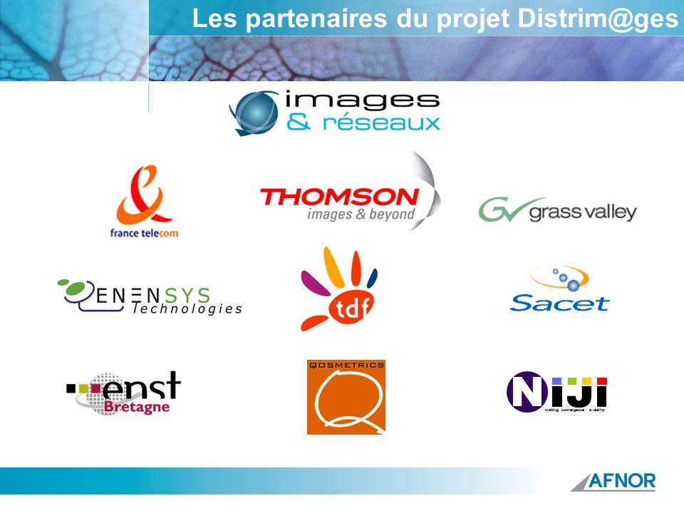 Référence Les partenaires du projet Distrim@ges making convergence a reality