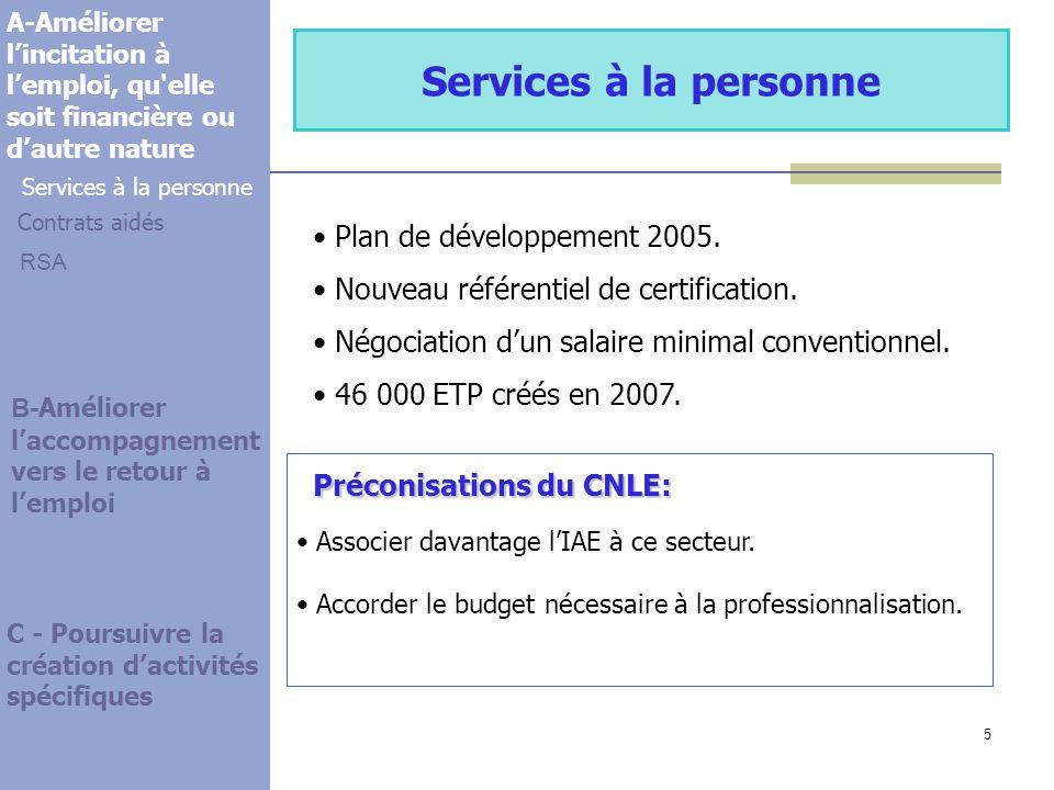 5 Services à la personne Plan de développement 2005.