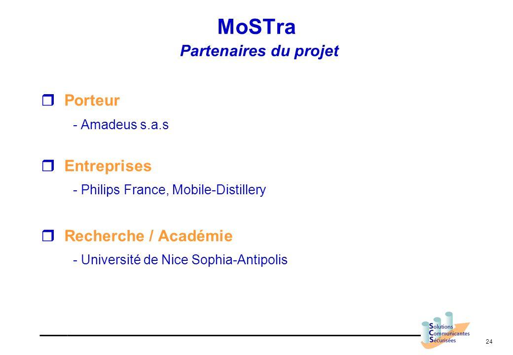 24 Porteur - Amadeus s.a.s Entreprises - Philips France, Mobile-Distillery Recherche / Académie - Université de Nice Sophia-Antipolis MoSTra Partenair
