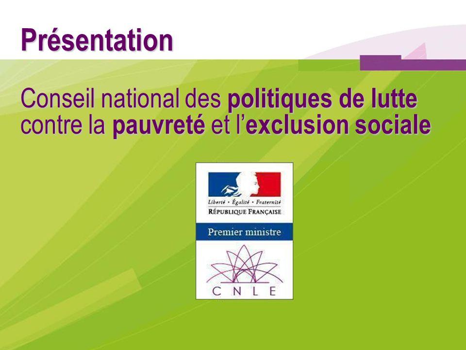 Présentation Conseil national des politiques de lutte contre la pauvreté et l exclusion sociale