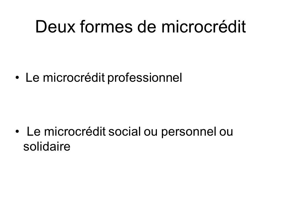 Les acteurs du microcrédit Les acteurs directs : -Les prêteurs : les banques, quelques associations, les collectivités locales .