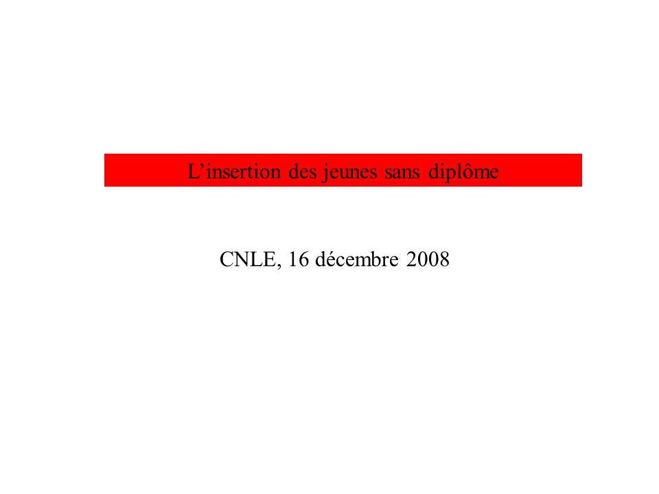 Linsertion des jeunes sans diplôme CNLE, 16 décembre 2008