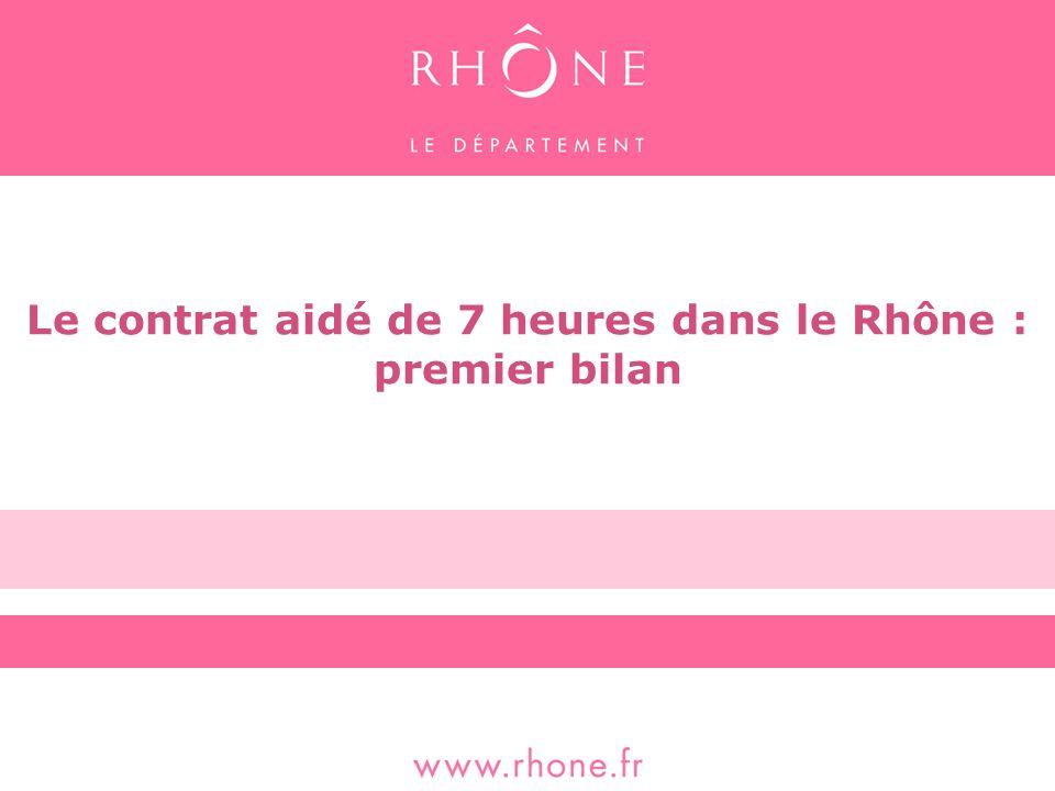 Le contrat aidé de 7 heures dans le Rhône : premier bilan