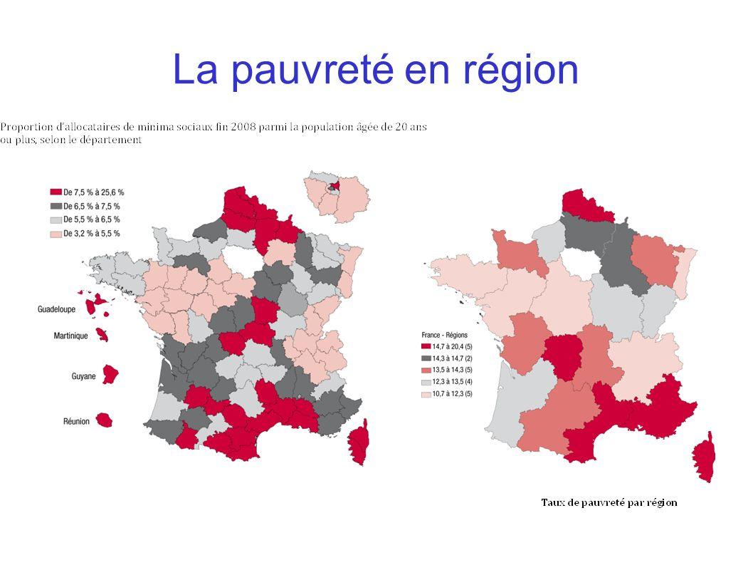 La pauvreté en région