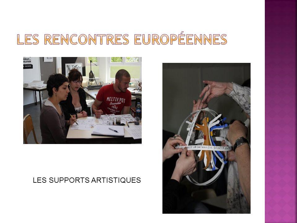 LES SUPPORTS ARTISTIQUES