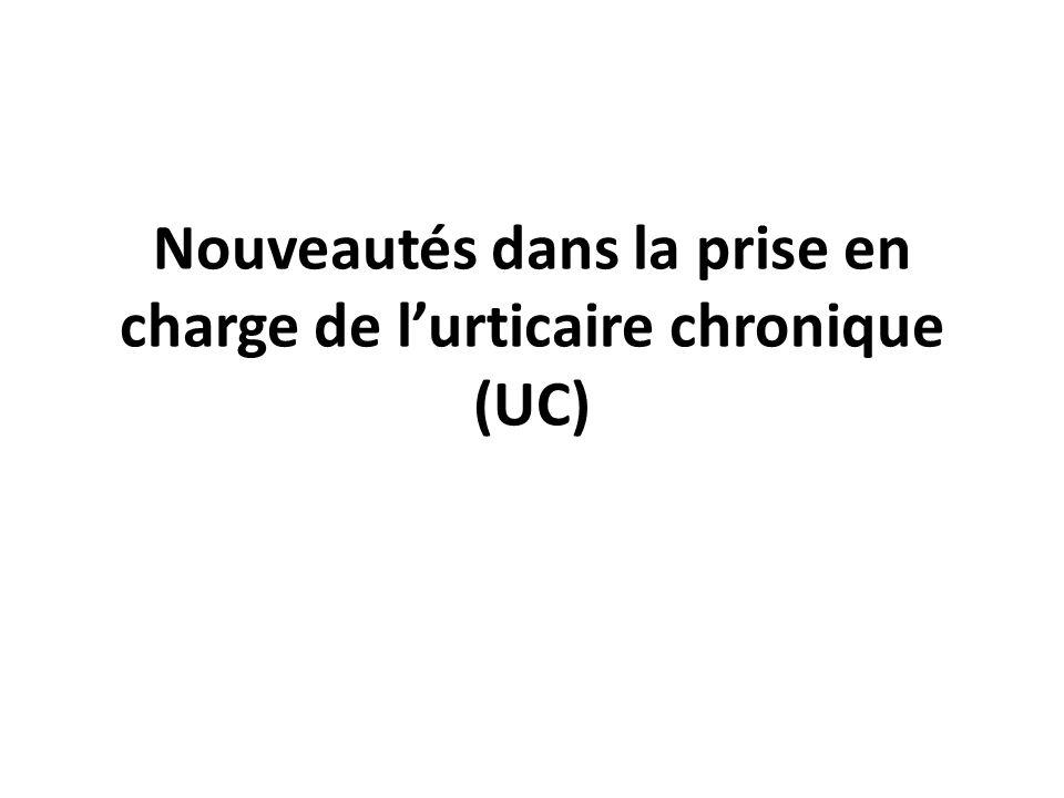 Nouveautés dans la prise en charge de lurticaire chronique (UC)