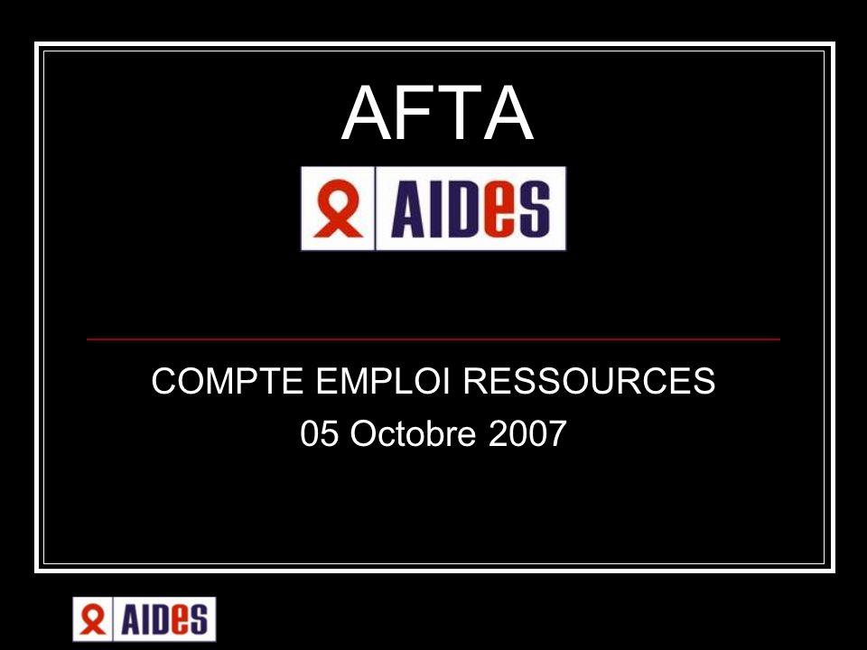 AFTA COMPTE EMPLOI RESSOURCES 05 Octobre 2007