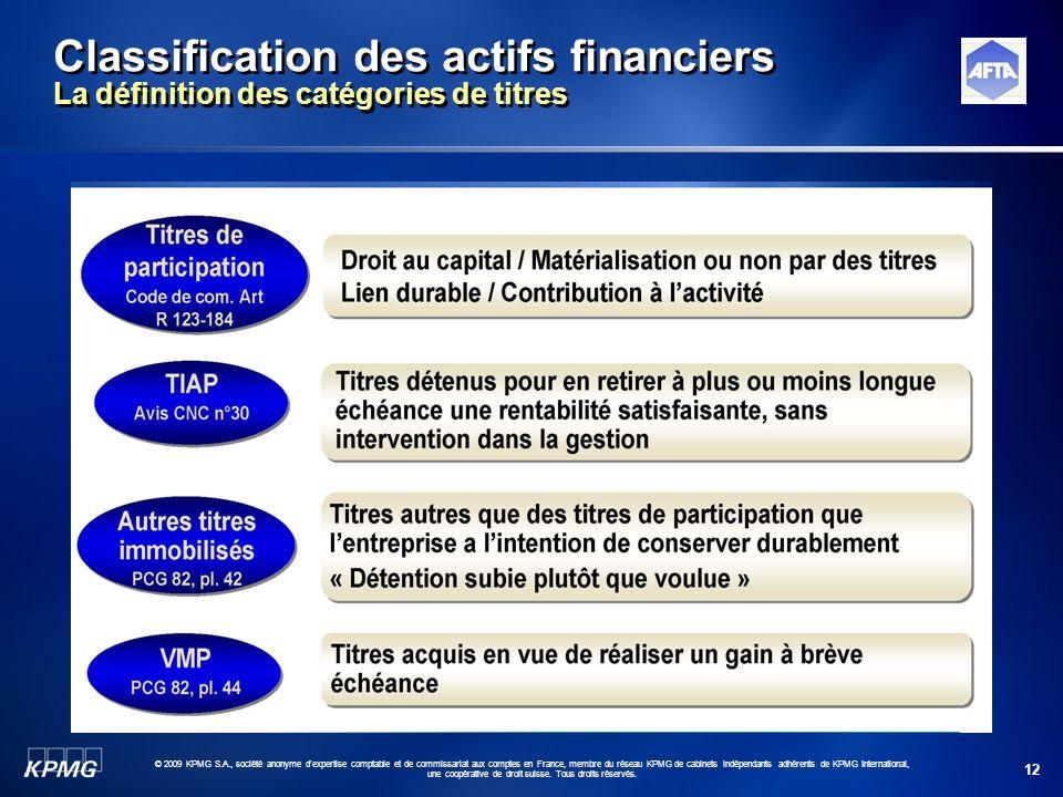 12 © 2009 KPMG S.A., société anonyme d'expertise comptable et de commissariat aux comptes en France, membre du réseau KPMG de cabinets indépendants ad
