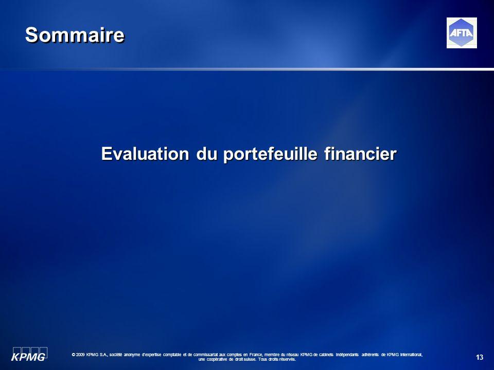 13 © 2009 KPMG S.A., société anonyme d'expertise comptable et de commissariat aux comptes en France, membre du réseau KPMG de cabinets indépendants ad