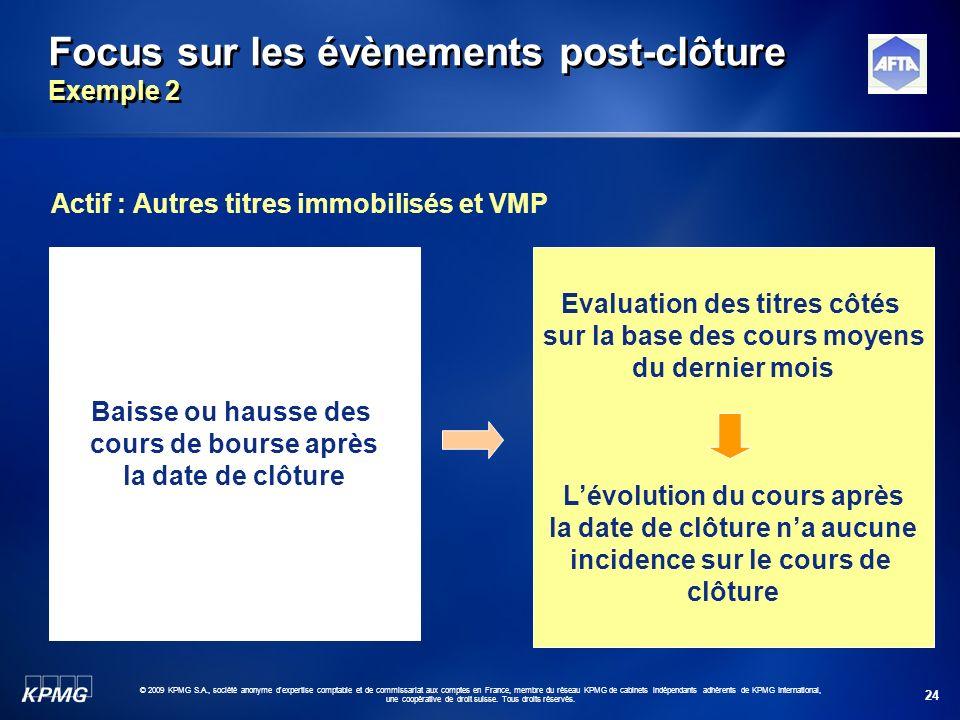 24 © 2009 KPMG S.A., société anonyme d'expertise comptable et de commissariat aux comptes en France, membre du réseau KPMG de cabinets indépendants ad