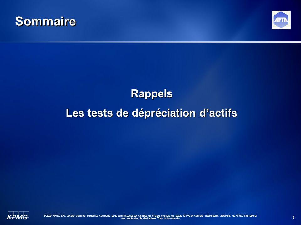 3 © 2009 KPMG S.A., société anonyme d'expertise comptable et de commissariat aux comptes en France, membre du réseau KPMG de cabinets indépendants adh