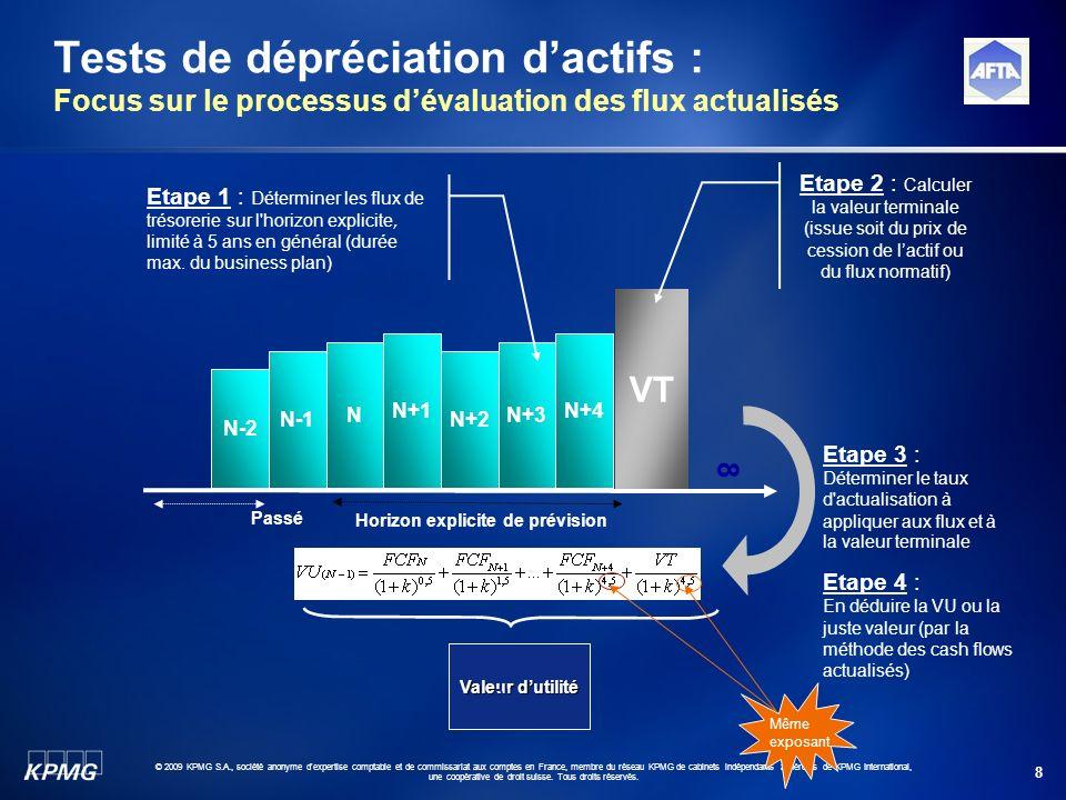 8 © 2009 KPMG S.A., société anonyme d'expertise comptable et de commissariat aux comptes en France, membre du réseau KPMG de cabinets indépendants adh