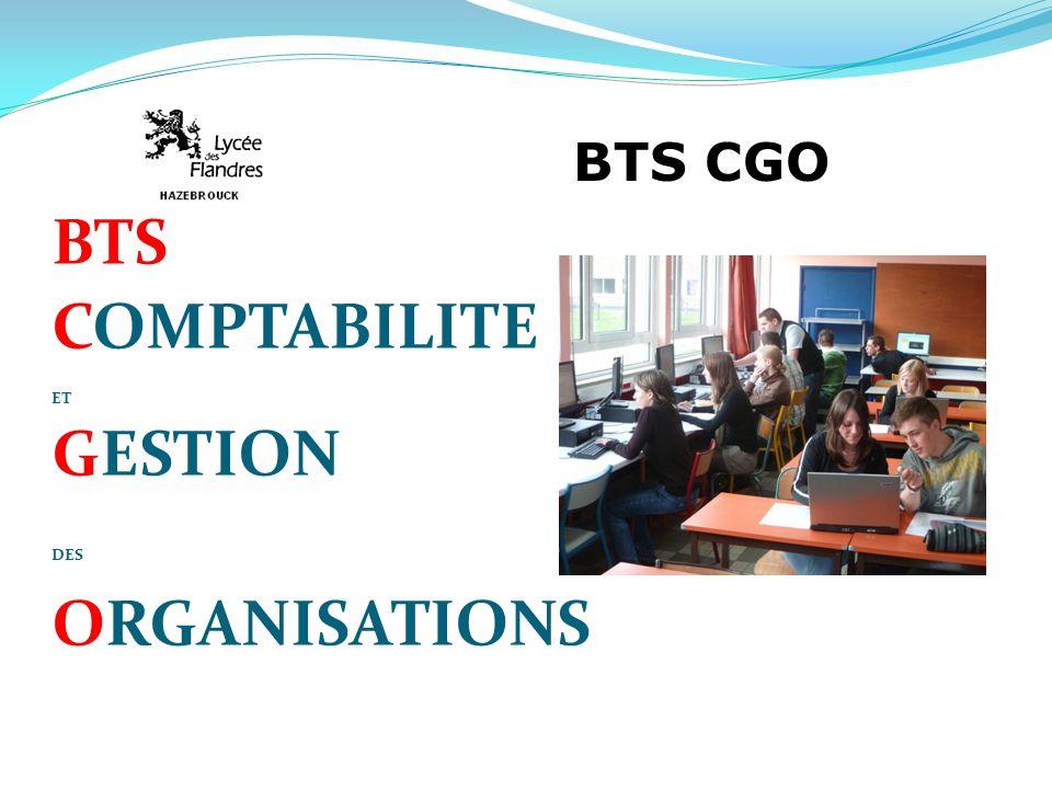 BTS COMPTABILITE ET GESTION DES ORGANISATIONS BTS CGO