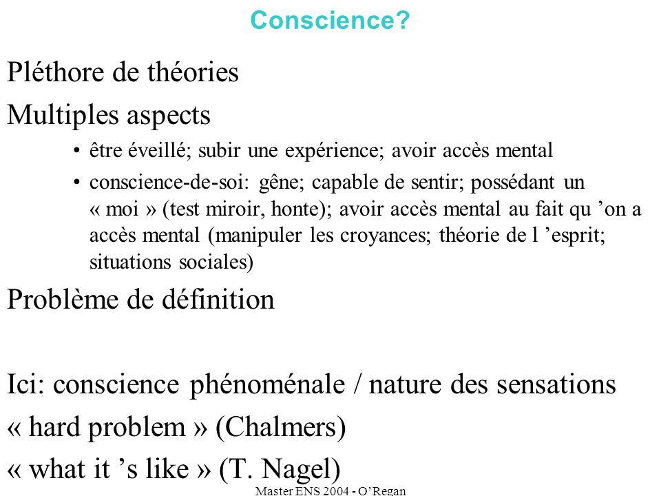 Master ENS 2004 - ORegan Conscience.