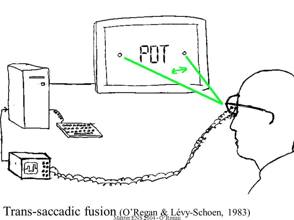 Master ENS 2004 - ORegan Trans-saccadic fusion (ORegan & Lévy-Schoen, 1983)