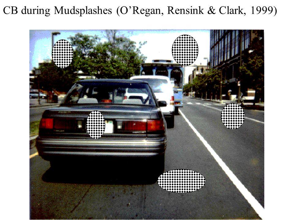 Master ENS 2004 - ORegan CB during Mudsplashes (ORegan, Rensink & Clark, 1999)