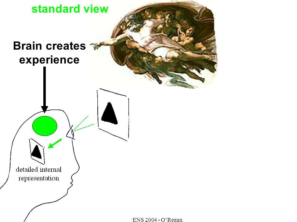 Master ENS 2004 - ORegan Brain creates experience standard view