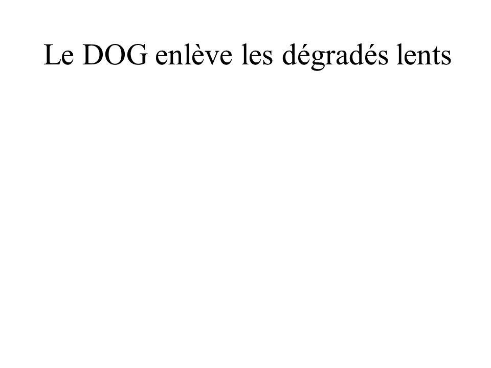 Le DOG enlève les dégradés lents