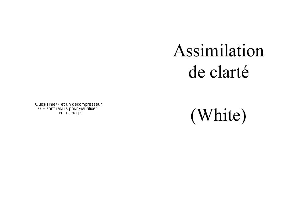 Assimilation de clarté (White)